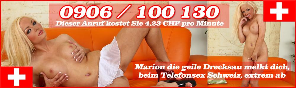 12 Telefonsex Schweiz mit Marion - Die versaute 0906 Durchwahl zur geilen Drecksau